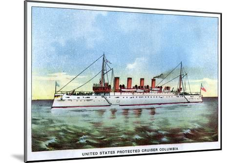 United States Protected Cruiser 'Columbia', C1890S--Mounted Giclee Print