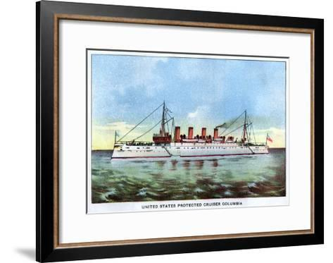United States Protected Cruiser 'Columbia', C1890S--Framed Art Print