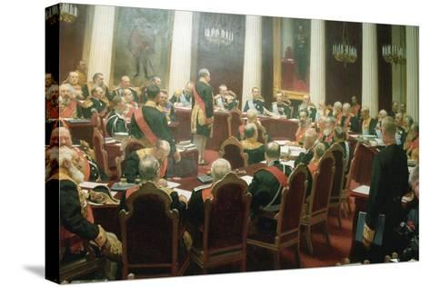 The Ceremonial Session of the State Council of Imperial Russia on May 7, 1901, 1903-Ivan Semyonovich Kulikov-Stretched Canvas Print