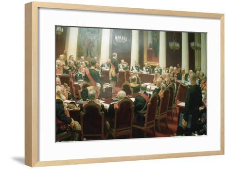 The Ceremonial Session of the State Council of Imperial Russia on May 7, 1901, 1903-Ivan Semyonovich Kulikov-Framed Art Print