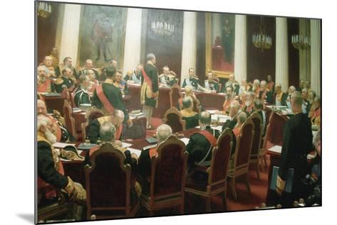 The Ceremonial Session of the State Council of Imperial Russia on May 7, 1901, 1903-Ivan Semyonovich Kulikov-Mounted Giclee Print