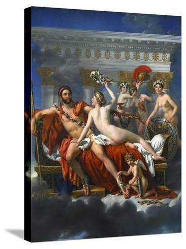Mars Being Disarmed by Venus, 1824-Jacques Louis David-Stretched Canvas Print