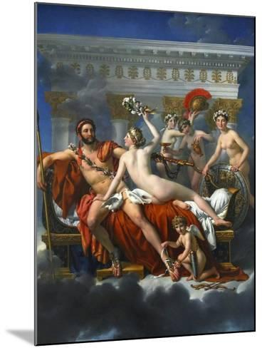 Mars Being Disarmed by Venus, 1824-Jacques Louis David-Mounted Giclee Print