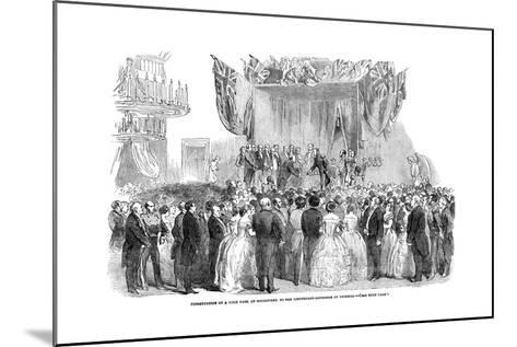 Presentation of a Gold Vase, at Melbourne, to the Lieutenant Governor of Victoria, 1854--Mounted Giclee Print