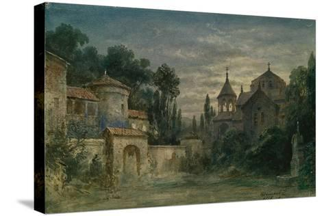 Stage Design for the Opera the Force of Destiny by G. Verdi, 1875-Matvei Andreyevich Shishkov-Stretched Canvas Print