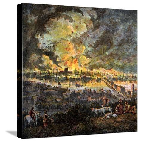 Great Fire of London, 1666--Stretched Canvas Print