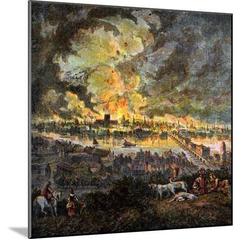 Great Fire of London, 1666--Mounted Giclee Print