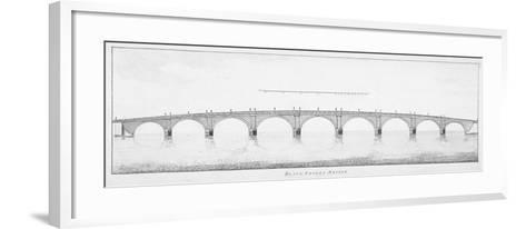 Longitudinal Section of Blackfriars Bridge, London, 1766--Framed Art Print