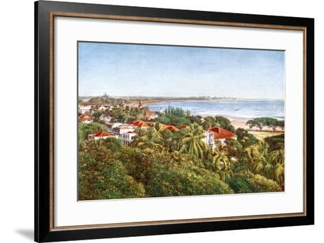 A View from the Ridge, Bombay, India, Early 20th Century--Framed Art Print