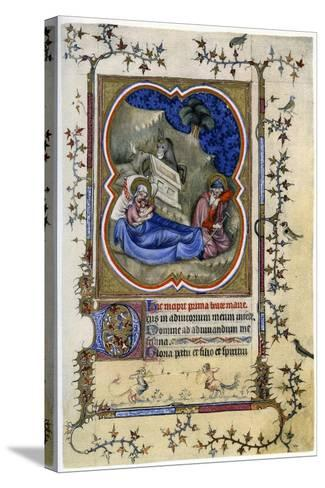 The Nativity, from a Book of Hours and Missal C1370-Maitre Aux Boquetaux-Stretched Canvas Print