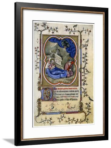 The Nativity, from a Book of Hours and Missal C1370-Maitre Aux Boquetaux-Framed Art Print