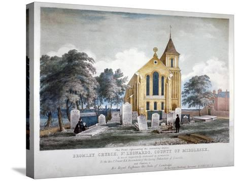 St Leonard's Church, Bromley-By-Bow, London, C1860-H Jones-Stretched Canvas Print