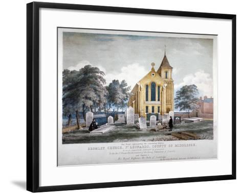 St Leonard's Church, Bromley-By-Bow, London, C1860-H Jones-Framed Art Print