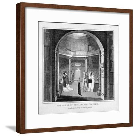 Interior View of the Leverian Museum, Albion Place, Southwark, London, 1806--Framed Art Print