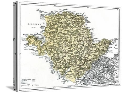 Map of Anglesey, 1924-1926--Stretched Canvas Print
