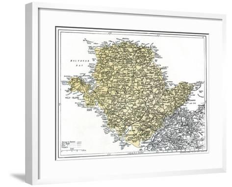 Map of Anglesey, 1924-1926--Framed Art Print