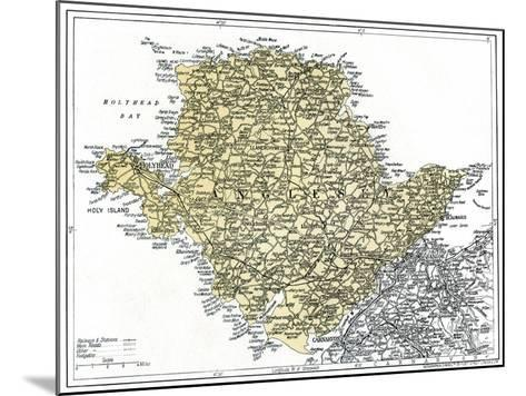 Map of Anglesey, 1924-1926--Mounted Giclee Print