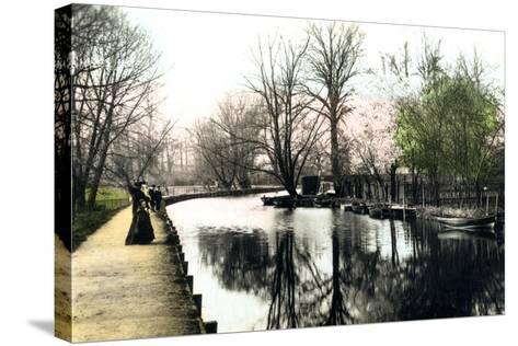 The River Gipping, Ipswich, 1926--Stretched Canvas Print