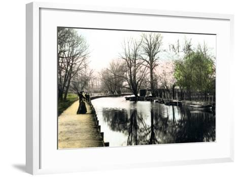 The River Gipping, Ipswich, 1926--Framed Art Print