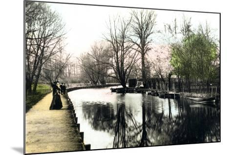 The River Gipping, Ipswich, 1926--Mounted Giclee Print