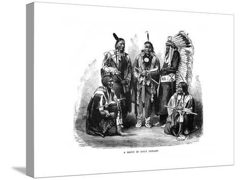 A Group of Sioux Indians, 1872--Stretched Canvas Print