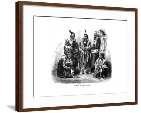 A Group of Sioux Indians, 1872--Framed Art Print