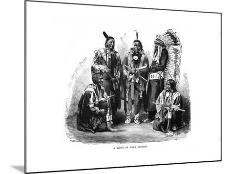 A Group of Sioux Indians, 1872--Mounted Giclee Print
