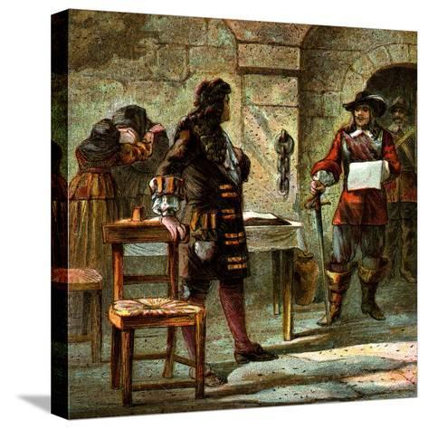 Lord William Russell Condemned, 1683--Stretched Canvas Print
