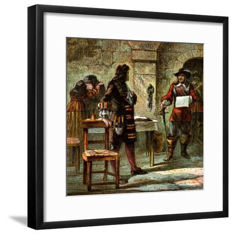 Lord William Russell Condemned, 1683--Framed Art Print