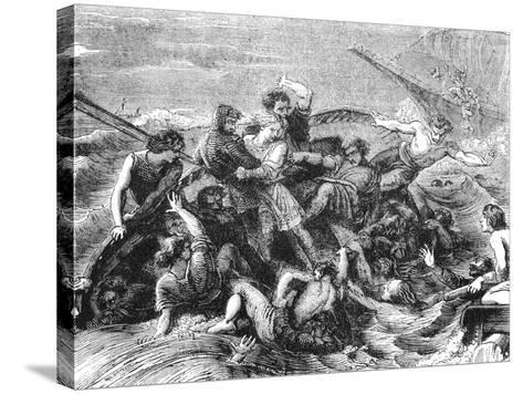 Shipwreck of Prince William, Son of Henry I, 1120--Stretched Canvas Print