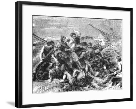 Shipwreck of Prince William, Son of Henry I, 1120--Framed Art Print