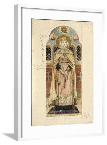 Eudoxia of Moscow (Study for Frescos in the St Vladimir's Cathedral of Kie), 1884-1889-Viktor Mikhaylovich Vasnetsov-Framed Art Print