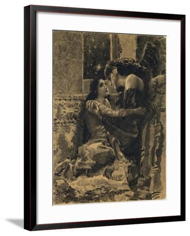 Tamara and Demon, 1890-1891-Mikhail Alexandrovich Vrubel-Framed Art Print