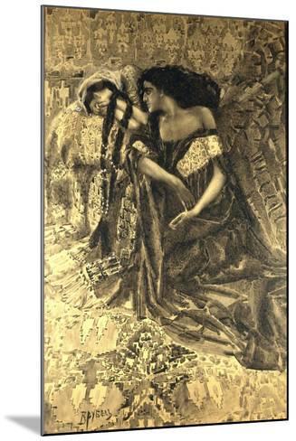 Tamara and Demon, 1890-1891-Mikhail Alexandrovich Vrubel-Mounted Giclee Print