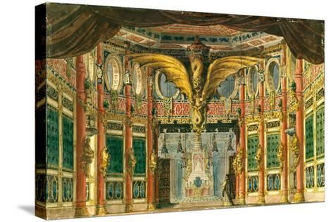 Stage Design for the Opera the Bronze Horse by D. Auber, 1837-Andreas Leonhard Roller-Stretched Canvas Print