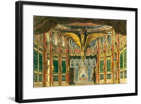Stage Design for the Opera the Bronze Horse by D. Auber, 1837-Andreas Leonhard Roller-Framed Art Print