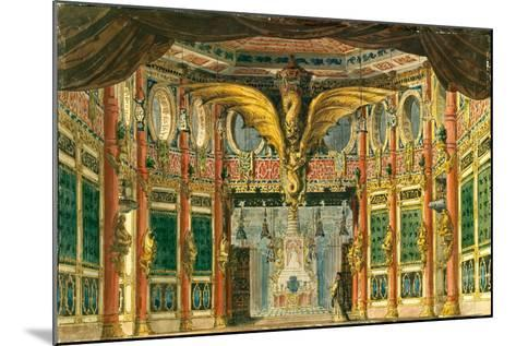 Stage Design for the Opera the Bronze Horse by D. Auber, 1837-Andreas Leonhard Roller-Mounted Giclee Print