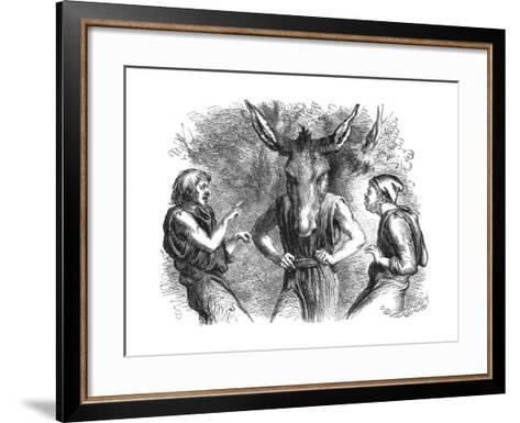 Scene from Shakespeare's a Midsummer Night's Dream--Framed Art Print