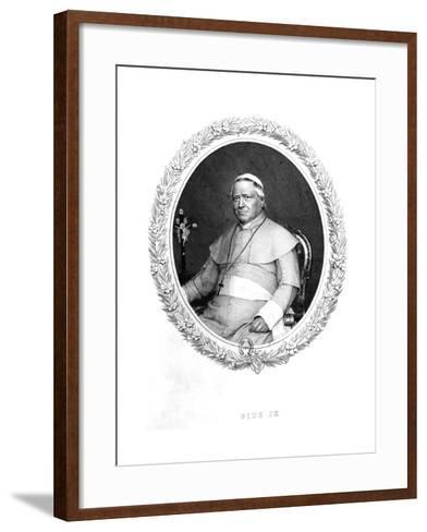 Pope Pius IX--Framed Art Print