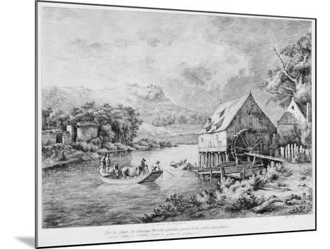A Mill on the Banks of the River, 1774-Jean-Jacques Boissieu-Mounted Giclee Print