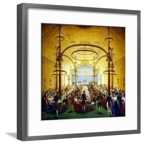 Ceremonial Dinner in Honour of the Moscow Governor-General Prince Dmitry Golitsyn, 1830S--Framed Art Print