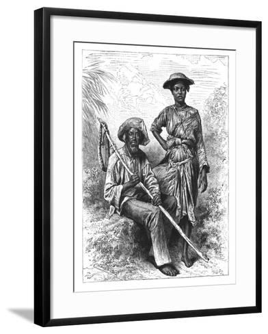 Snake Catcher and Charcoal Girl, Martinique, C1890--Framed Art Print