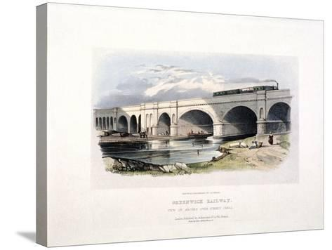 View of the Surrey Canal, Deptford, London, C1840--Stretched Canvas Print