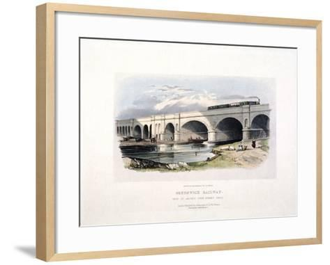 View of the Surrey Canal, Deptford, London, C1840--Framed Art Print