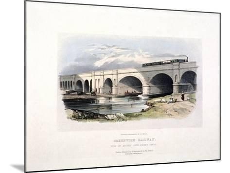 View of the Surrey Canal, Deptford, London, C1840--Mounted Giclee Print