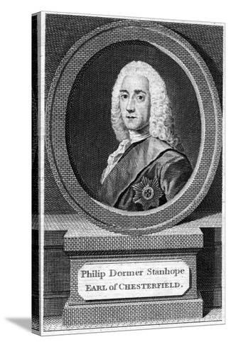 Philip Dormer Stanhope (1694-177), 4th Earl of Chesterfield, 19th Century--Stretched Canvas Print
