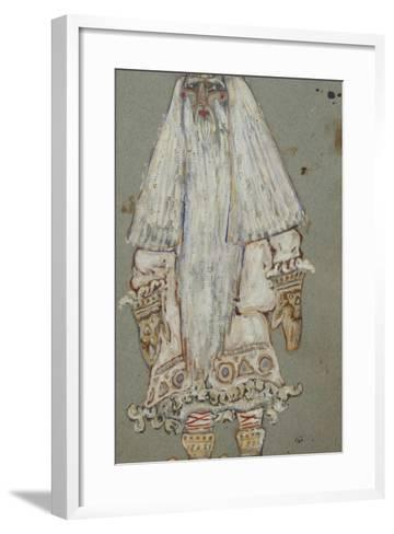 Ded Moroz. Costume Design for the Theatre Play Snow Maiden by A. Ostrovsky, 1912-Nicholas Roerich-Framed Art Print