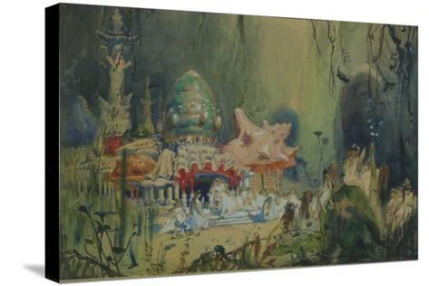 Underwater Kingdom. Stage Design for the Opera Rusalka by A. Dargomyzhsky, 1884-Viktor Mikhaylovich Vasnetsov-Stretched Canvas Print