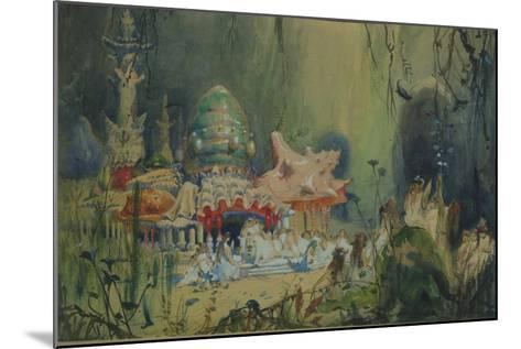 Underwater Kingdom. Stage Design for the Opera Rusalka by A. Dargomyzhsky, 1884-Viktor Mikhaylovich Vasnetsov-Mounted Giclee Print