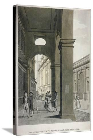 Arcade on the North Front of the Royal Exchange, City of London, 1797-Thomas II Malton-Stretched Canvas Print